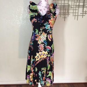 Lauren Ralph Lauren black multicolor floral dress